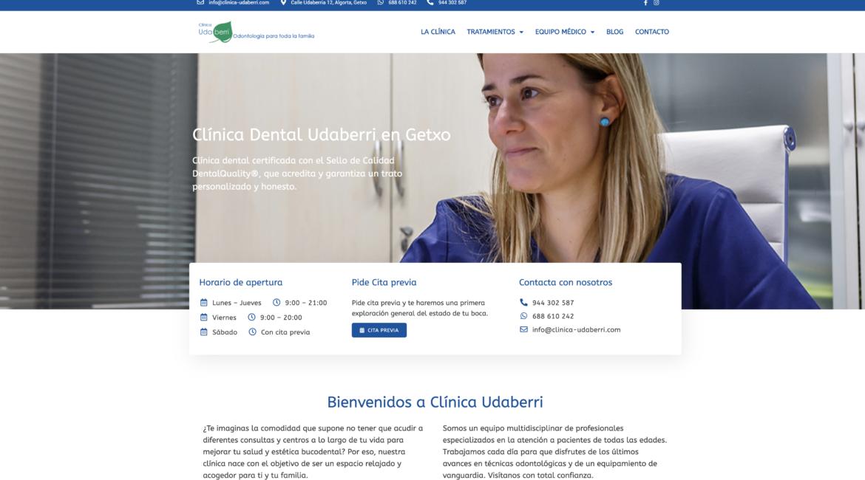 clinica dental udaberri - web 2020